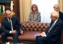 Румен Радев по време на срещата с гръцкия му колега