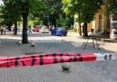Мястото на инцидента, при който мъж сам стреля в главата си с газов пистолет