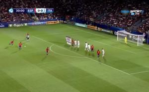 Испания - Италия 0:0 /полувреме/