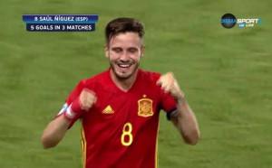 Саул наниза хеттрик срещу Италия и прати Испания на финал