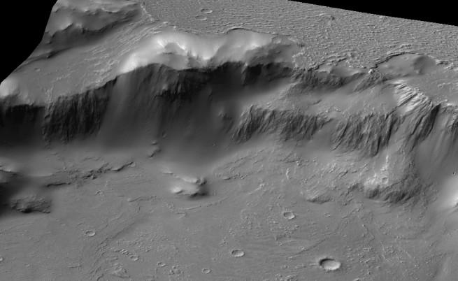 """3D изображение на """"Ниагарския водопад"""" на Марс"""