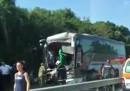 Тежка катастрофа на два автобуса затвори пътя Бургас-Созопол