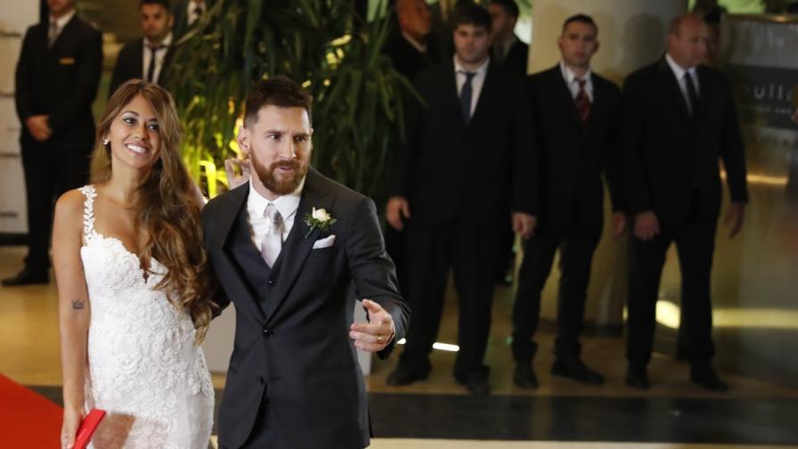 Лионел Меси и красивата му съпруга Антонела
