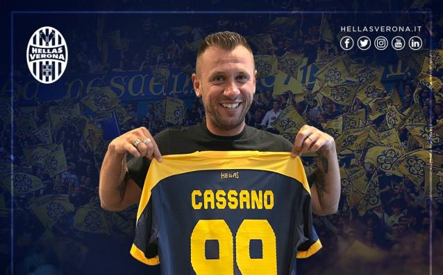Антонио Касано<strong> източник: twitter.com/HellasVeronaFC</strong>