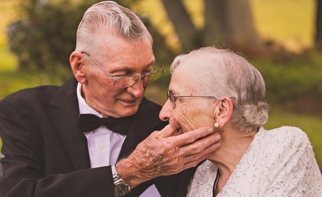 Руби и Херълд в една магична фотосесия за 65-годишнината от брака им.