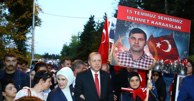 Президентът на Турция Реджеп Ердоган обеща да бъде върнато смъртното