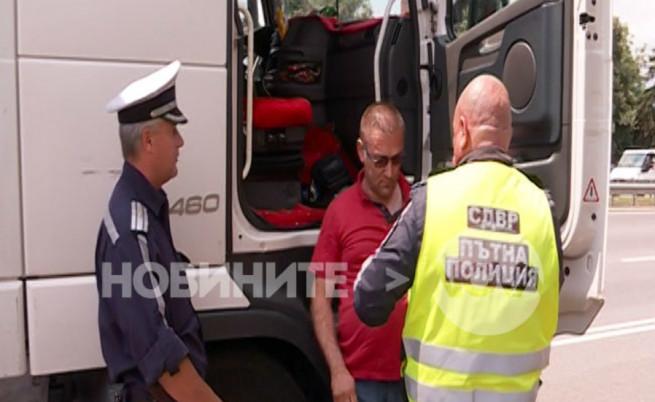 Пиян шофьор на турски тир удари кола и камион на