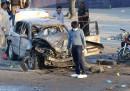 Мястото на експлозията в големия пакистански град