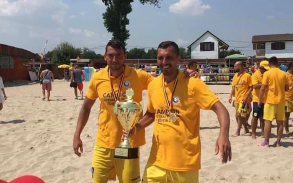 Двама български национали станаха шампиони по плажен футбол на Румъния