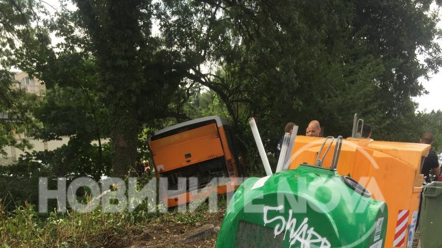 Автобус катастрофира в София