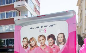 Розовият кампер на една от 8 тръгва из страната в помощ на жените с рак на гърдата