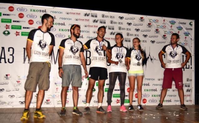 Организаторите на Лъвско сърце - Кръстин е най-вляво, а Филип третият отляво надясно. източник: AOFitLife