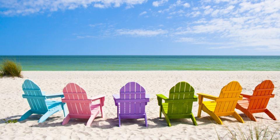 плаж стол пясък почивка
