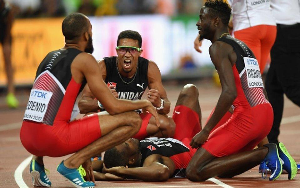 Тринидад и Тобаго спечели титлата в бягането на 4 по 400 метра