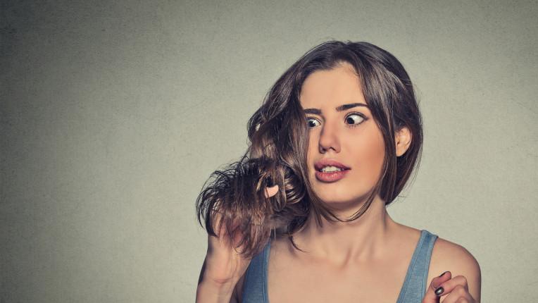 жена коса пърхот