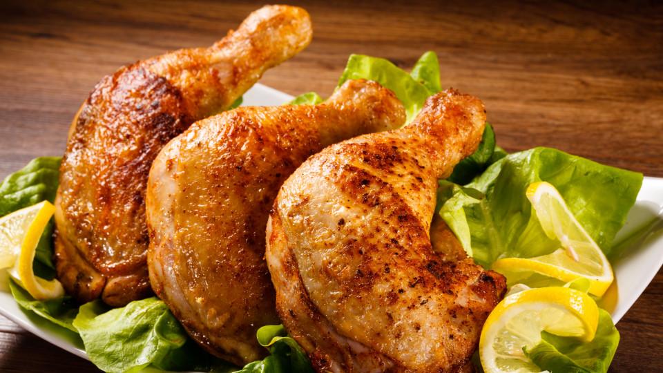 Пилешки бутчета на грил с боровинков сос