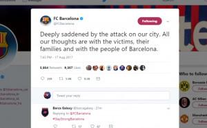 Барселона плаче за загиналите в атентата