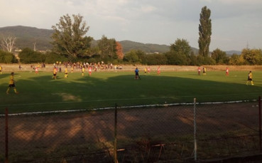 Националният отбор по фубол за аматьори с проверка срещу Миньор