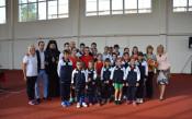 Обновената лекоатлетическа писта  във Враца<strong> източник: ММС</strong>