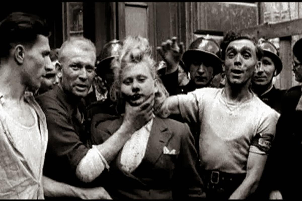 След падането на германската окупация във Франция през 1944 г. всички французойки, които насилствено или доброволно са имали отношения с германци, са изправени пред публично унижение. От 1943 г. до 1946 г. около 20 000 жени на различна възраст са публично обръснати и поведени по пътя на срама из градовете на цяла Франция. Процедурата винаги е изпълнявана от мъже, а площадите се пълнели с хора, които искат да видят демонстрацията на това, какво се случва с предателите.