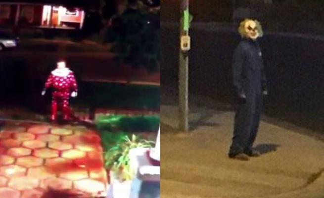 Видеозаписи от появата на мъже, облечени като клоуни, по улиците на Великобритания, 2016.