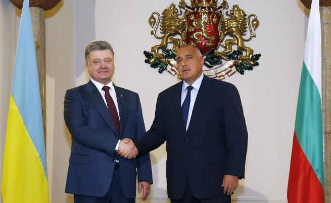 Украинският президент Петро Порошенко и българският премиер Бойко Борисов при миналогодишната визита на Порошенко в София