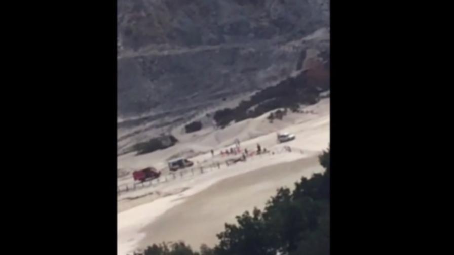 Семейство загина в 1000° в кратера на вулкан в Италия