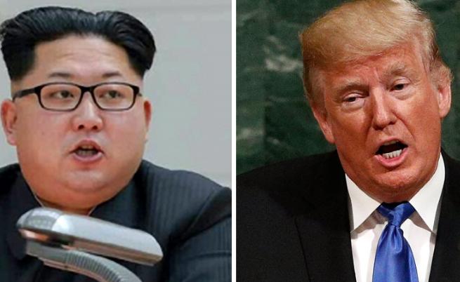 Ким Чен ун и Доналд Тръмп