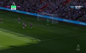 Саутхемптън - Манчестър Юнайтед 0:1 /първо полувреме/