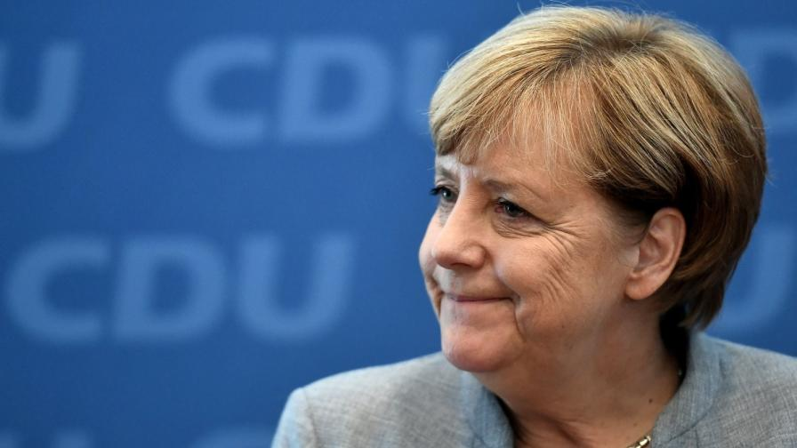 Ангела Меркел в изборния ден