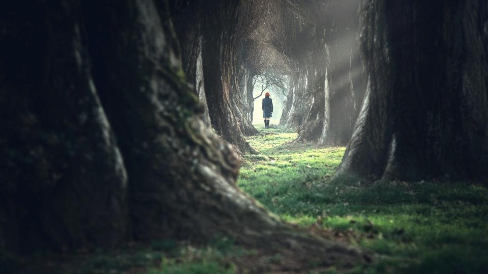 страх самота гора жена есен