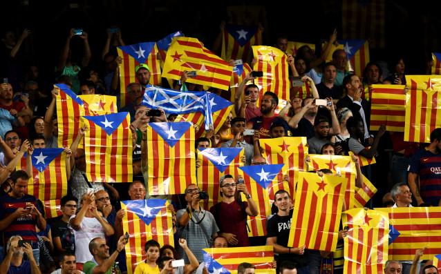 Каталунски знамена източник: Gulliver/Getty Images