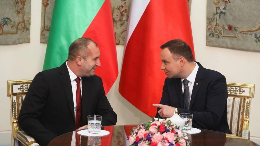Румен Радев и Анджей Дуда