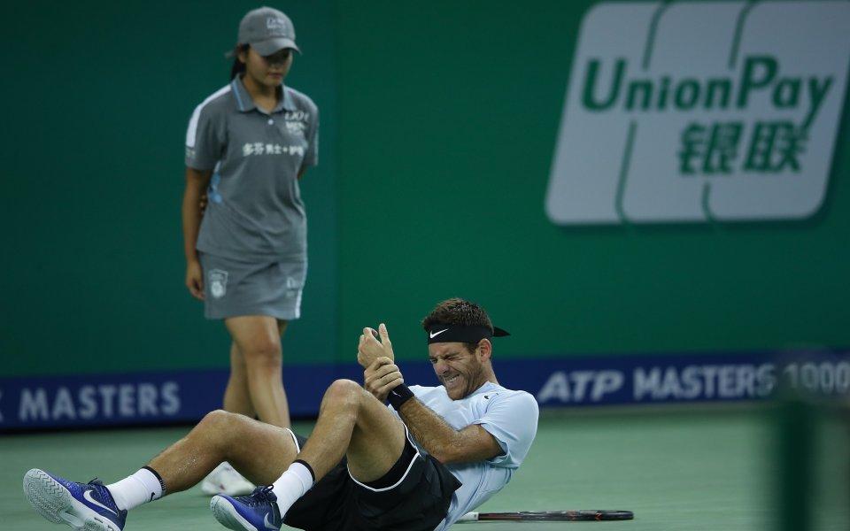 Дел Потро под въпрос за полуфинала с Федерер