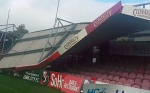 Ураганът Офелия срути покрив на стадион
