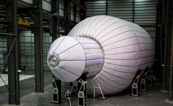 Един от модулите на надуваемата космическа станция