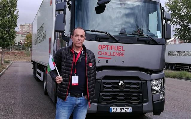 Пламен Иванов от Плевен спечели титлата и голямата награда – нов камион Renault T 480 на финала на Optifuel Challenge 2017 източник: renault-trucks.bg