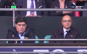 Марадона в ложите на Уембли до боса на Тотнъм