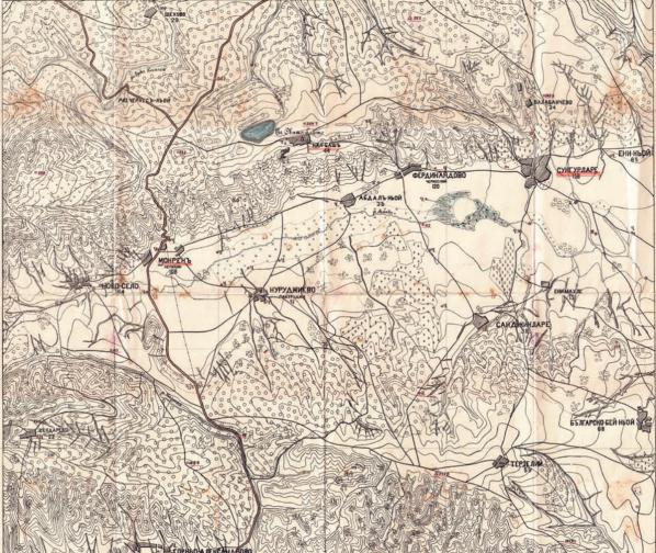 По време на Руско-турската освободителна война (1877-78 г.) руския Топографски корпус, на базата на изградената от тях геодезическа мрежа, прави топографска снимка на освободените български територии . Картообработването е извършено след войната в Русия. Предоставени са на Княжество България за нуждите на новата българската войска и икономика.