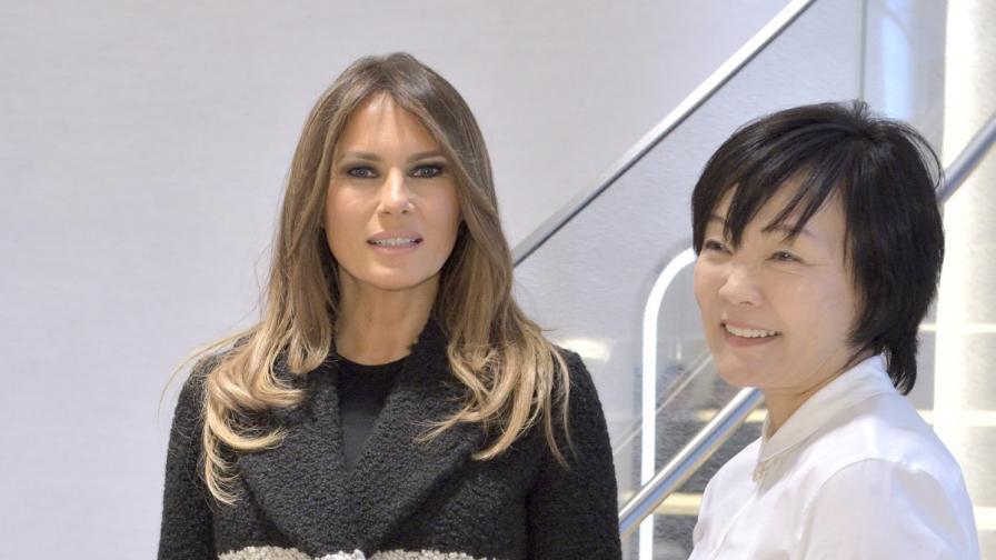 Мелания Тръмп и Акие Абе в Япония