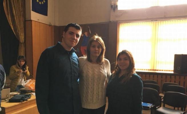 Десислава Радева с ученици. От личния архив на Георги Тодоров