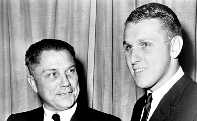 Джими Хофа и сина му.
