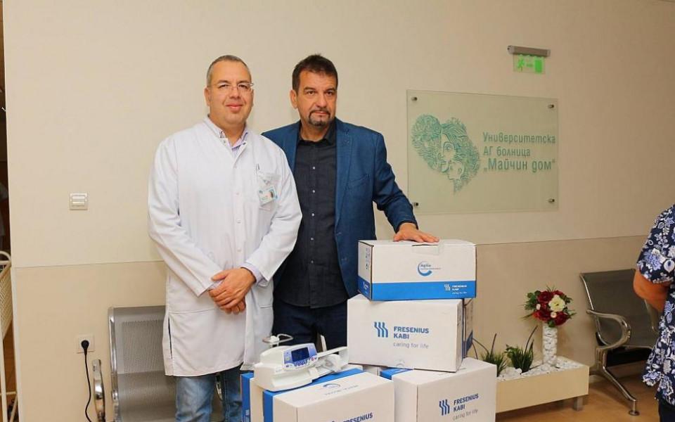 Две клиники по неонатология получиха дарение от Ники Кънчев Шоу и Гонг