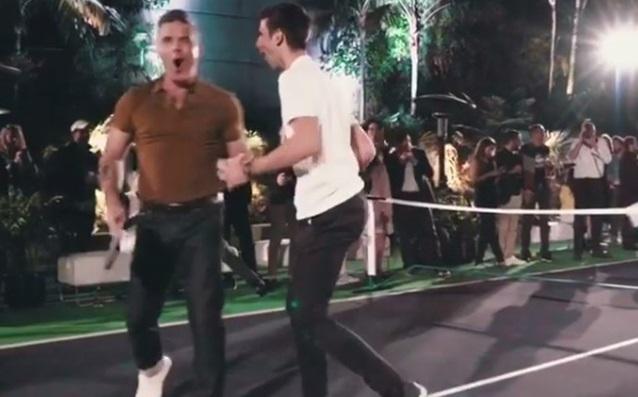 Роби Уилямс и Новак Джокович източник: instagram.com/robbiewilliams/