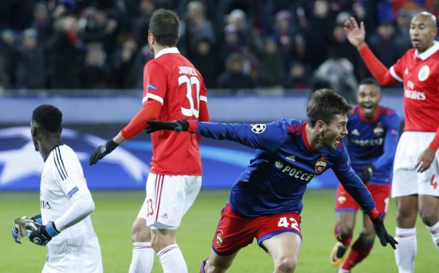 ЦСКА Москва на чудесна позиция за атака на осминафинала
