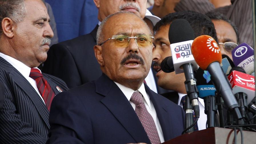 Убитият бивш президент на Йемен Али Абдула Салех
