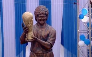 Мислехте, че статуята на Роналдо е лоша? Вижте тази на Марадона...