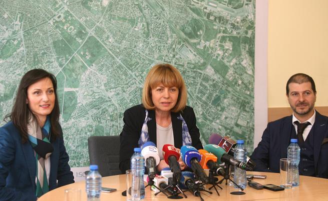 Йорданка Фандъкова,Мария Габриел и председателя на фондация Webit - Пламен Русев
