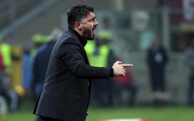 Темпераментният треньор на Милан Дженаро Гатузо е предприел втора атака