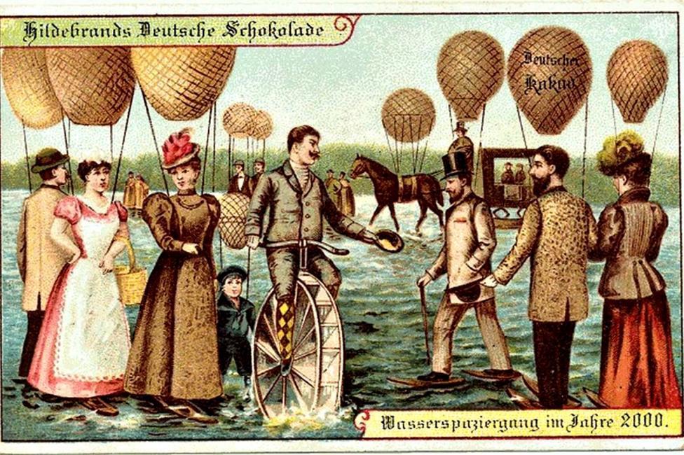 - Вървене по вода с помощта на балони.